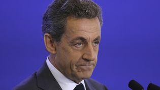 Nicolas Sarkozy lors d'uneconvention des Répulicains sur les Affaires internationalesà Paris, le 15 juin 2016. (JACQUES DEMARTHON / AFP)