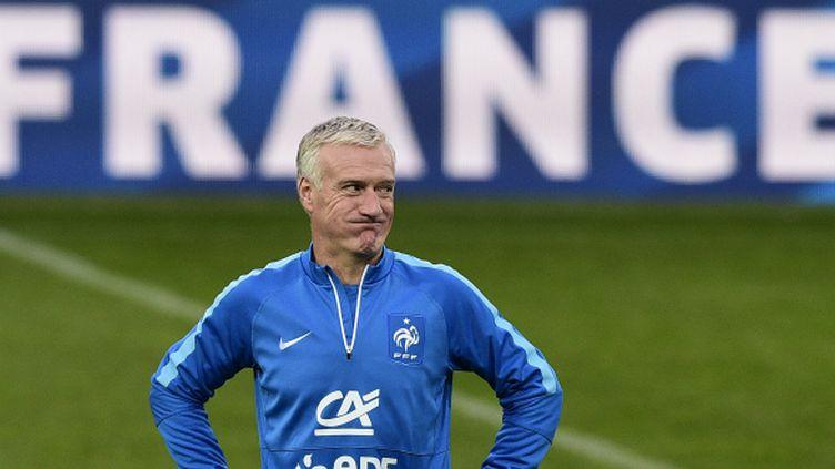 Didier Deschamps, le sélectionneur de l'équipe de France, à la veille du match amical face au Danemark.