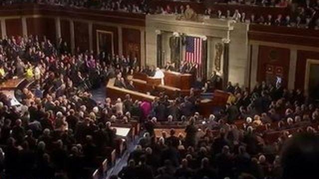 Le pape face au congrès américain