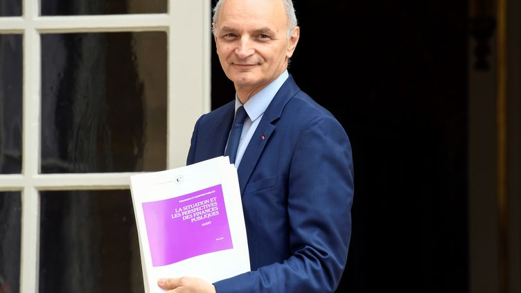 Le premier président de la Cour des comptes, Didier Migaud, devant l'hôtel Matignon, à Paris, le 29 juin 2017. (BERTRAND GUAY / AFP)