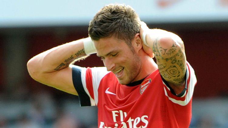 Olivier Giroud a enfin marqué en Premier League sous le maillot d'Arsenal (OLLY GREENWOOD / AFP)