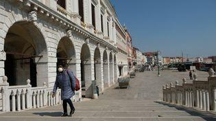 La ville de Venise confinée à cause ducoronavirus, le 2 avril 2020. (NATHANAEL CHARBONNIER / ESP - REDA INTERNATIONALE / RADIO FRANCE)