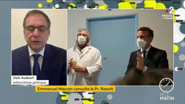 Coronavirus: Emmanuel Macron consulte le Pr. Raoult
