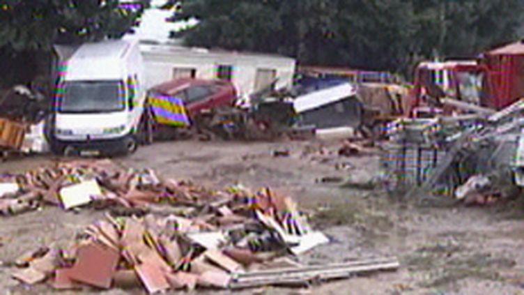 Les dégâts après les pluies diluviennes sur Sainte-Maxime, le 19 septembre 2009 (© France 3)