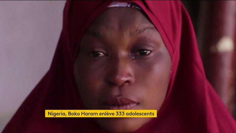 Une mère, dont le fils a été enlevé par Boko Haram au Nigeria (FRANCEINFO)