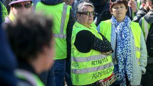 """Des personnes manifestentlors d'une journée de mobilisation des """"gilets jaunes"""", le 17 novembre 2018 à Toulouse (Haute-Garonne). (FR?D?RIC SCHEIBER / HANS LUCAS / AFP)"""
