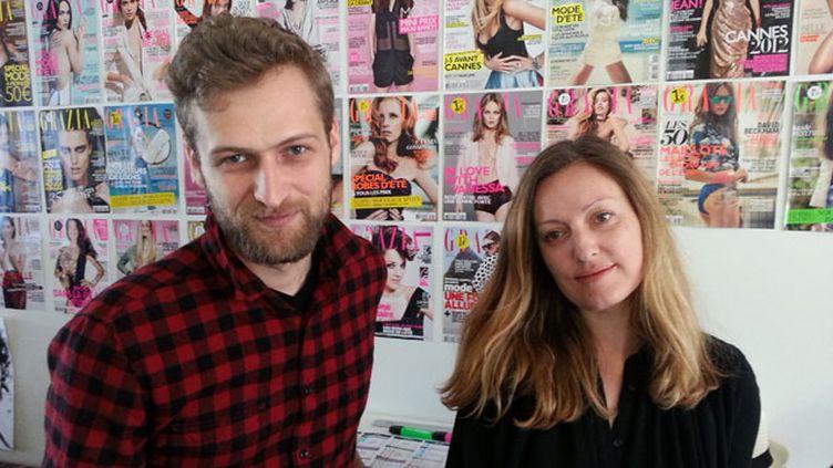 (Adrien Pelletier, directeur artistique, et Christine Regnier, directrice de la rédaction de Grazia  © Radio France / Cécilia Arbona)
