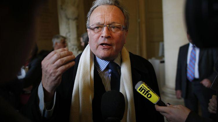 Le député UMP du Nord, Christian Vanneste, le 8 février 2012 à l'Assemblée nationale. (THOMAS PADILLA / MAXPPP)