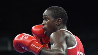 Souleymane Cissokho lors de son quart de finale, le 13 août 2016 à Rio. (YURI CORTEZ / AFP)