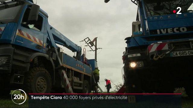 Tempête Ciara : la course contre-la-montre pour rétablir l'électricité