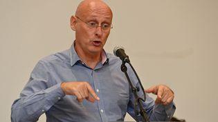 Bernard Laporte, président de la FFR, le 24 septembre 2020 à Saint-Jean-de-Védas, près de Montpellier (Hérault) (PASCAL GUYOT / AFP)