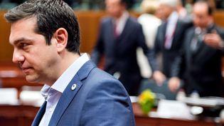 Le Premier ministre grec Alexis Tsipras, le 12 juillet 2015 à Bruxelles (Belgique). (GEERT VANDEN WIJNGAERT / AP / AFP)