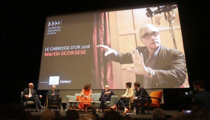 """""""Une conversation"""" avec Martin Scorsese à la Quinzaine des Réalisateurs le 9 mai.  (Lorenzo Ciavarini Azzi/Culturebox)"""