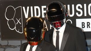 Daft Punk arrive aux Video Music Awards 2013, le 25 août à New York.  (Emmanuel Dunand / AFP)