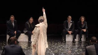 Jules César avec Martine Chevallier, Clotilde de Bayser, Christian Gonon, Nazim Boudjenah, Noam Morgensztern (VINCENT PONTET)