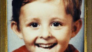 Portrait du petit Grégory Villemin, 4 ans, dont le corps est découvert dans la Vologne le 16 octobre 1984. (MARCEL MOCHET / AFP)