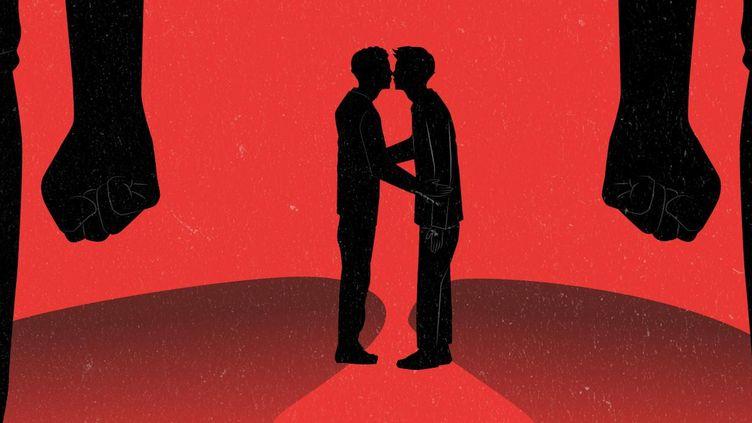 Franceinfo a recensé les violences contre les lesbiennes, gays, bisexuels, transgenres et intersexes (LGBTI) signalées dans la presse ou sur les réseaux sociaux au cours des cinq derniers mois. (AWA  SANE / FRANCEINFO)
