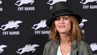 L'actriceVanessa Paradis pose pour une séance photos, le 5 octobre 2017, à Namur en Belgique. (EMMANUEL DUNAND / AFP)