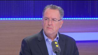 Richard Ferrand, secrétaire général du mouvement En Marche! et député PS du Finistère, invité du 8h30 politique le samedi 5 novembre 2016. (FRANCEINFO)