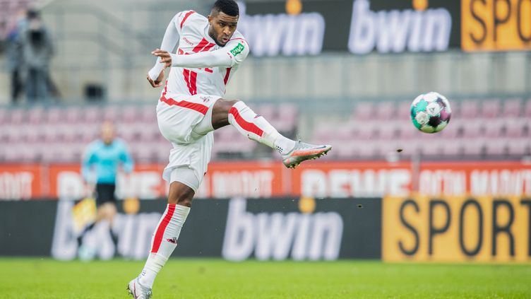 Anthony Modeste (FC Cologne) lors d'un match de Bundesliga contre l'Eintracht Francfort en octobre 2020. (MARCEL KUSCH / POOL)