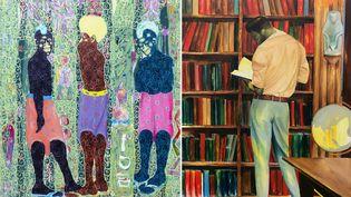 Deux oeuvres de Kassou Seydou et Elladj Lincy Deloumeaux  (GALERIE CECILE FAKHOURY)