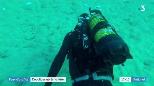 Feux d'artifice : dépolluer la mer après la fête