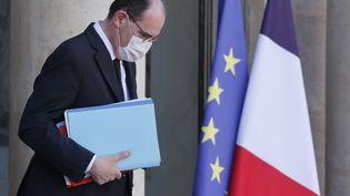 Le Premier ministre Jean Castex, le 24 mars 2021 à l'Elysée. (LUDOVIC MARIN / AFP)