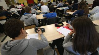 Un cours dans une salle d'un collège de Belfort. (Photo d'illustration) (MAXPPP)