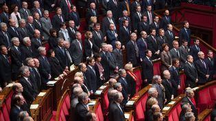 Minute de silenceà l'Assemblée nationalele 13 janvier 2014 (CHAMUSSY / SIPA)