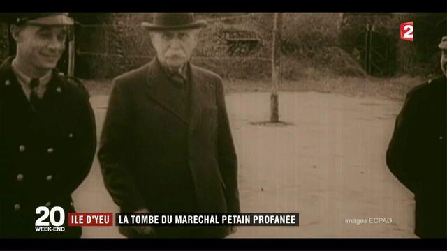 Ile d'Yeu : la tombe du maréchal Pétain profanée