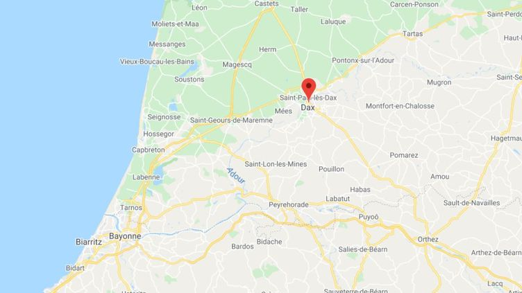 La commune de Dax dans les Landes. (GOOGLE MAPS / FRANCETV INFO)