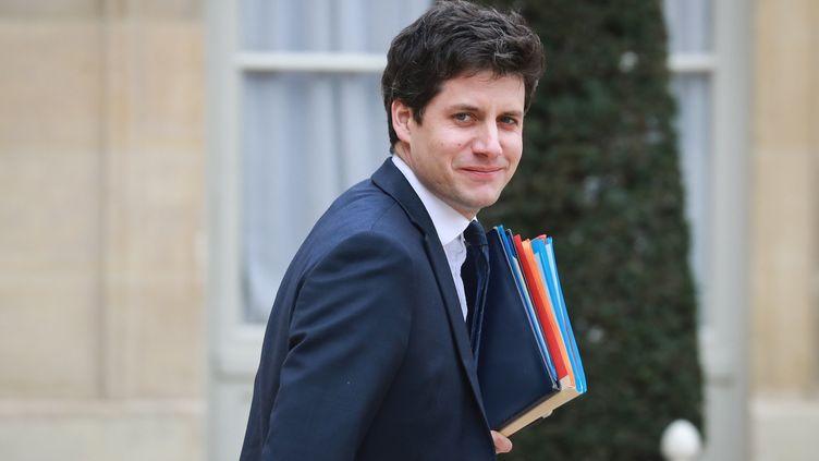 Le ministre chargé de la ville et du Logement, Julien Denormandie, à la sortie du Conseil des ministres, le 4 mars 2020. (LUDOVIC MARIN / AFP)