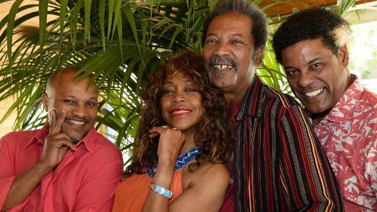 Guy Bevert, Clemence Bringtown, Jose Sebeloue et Julien Tarquin, quatre membre de La Compagnie créole (2015)  (BERTRAND GUAY / AFP)