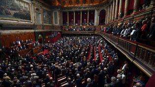 Les députés et sénateurs réunis en congrès à Versailles le 3 juillet 2017. (ERIC FEFERBERG / POOL)