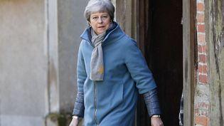 Theresa May à Maindenhead, au Royaume-Uni, le 24 mars 2019. (ADRIAN DENNIS / AFP)
