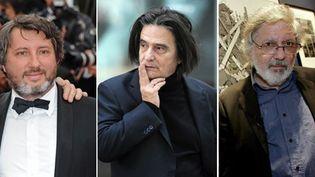 Bruno Podalydes, Jean-Pierre Léaud et Jacques Tardi  (PHOTOSHOT/MAXPPP - MARTIN BUREAU/AFP - ALAIN JULIEN/AFP)
