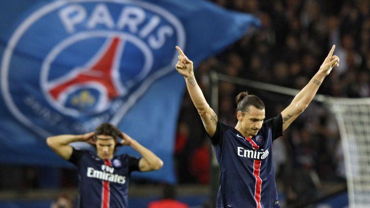 Zlatan Ibrahimovic, meilleur marqueur de l'histoire du PSG (KENZO TRIBOUILLARD / AFP)