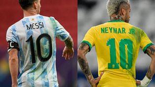 Lionel Messi et Neymar s'affrontent pour la première fois depuis le 11 novembre 2016. (MATEUS BONOMI (AFP) et THIAGO RIBEIRO (AFP))