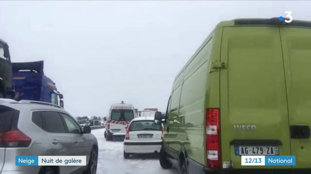 Neige : nuit de galère sur l'autoroute A9