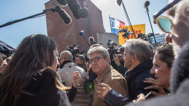 Jean-Luc Mélenchon à son arrivée au Palais de justice de Bobigny, le 19 septembre 2019. (MAXPPP)