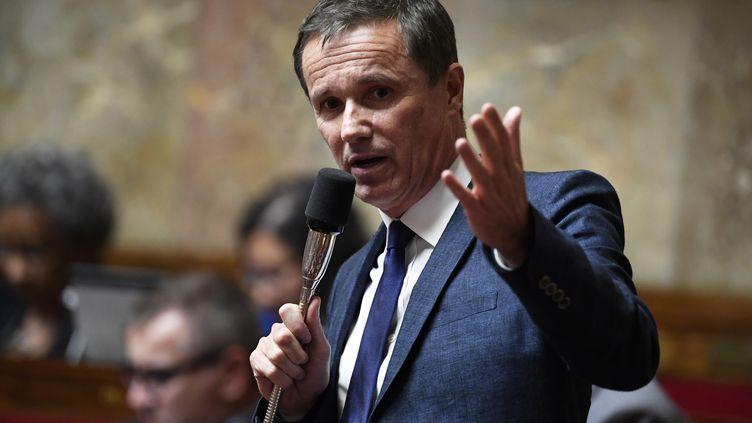 Nicolas Dupont-Aignan s'exprime à l'Assemblée nationale, à Paris, le 5 juin 2018. (BERTRAND GUAY / AFP)