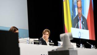 La responsable climat de l'ONU, Patricia Espinosa, assiste à l'ouverture de la COP25 à Madrid (Espagne), le 2 décembre 2019. (JUAN CARLOS LUCAS / NURPHOTO / AFP)