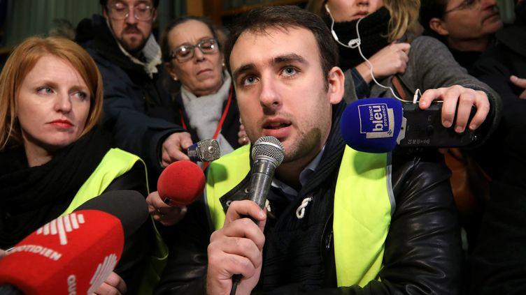 Ingrid Levavasseur etHayk Shahinyan donnent une conférence de presse, à Marseille, le 5 janvier 2019. (MAXPPP)