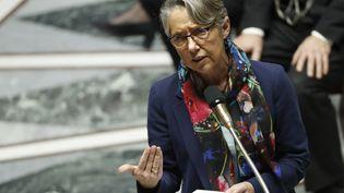 La ministre des Transports, Elisabeth Borne, le 19 décembre 2017, à l'Assemblée nationale à Paris. (PATRICK KOVARIK / AFP)