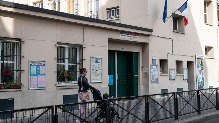 L'écoleHippolyte Maindrondans le 14e arrondissement de Paris, le 19 septembre 2020. (RICCARDO MILANI / HANS LUCAS / AFP)