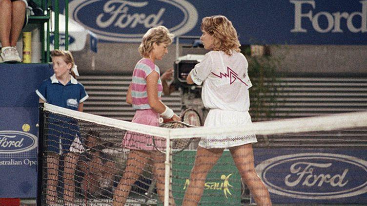 Chris Evert n'a pas résisté à Steffi Graf lors de la finale 1988 à Melbourne