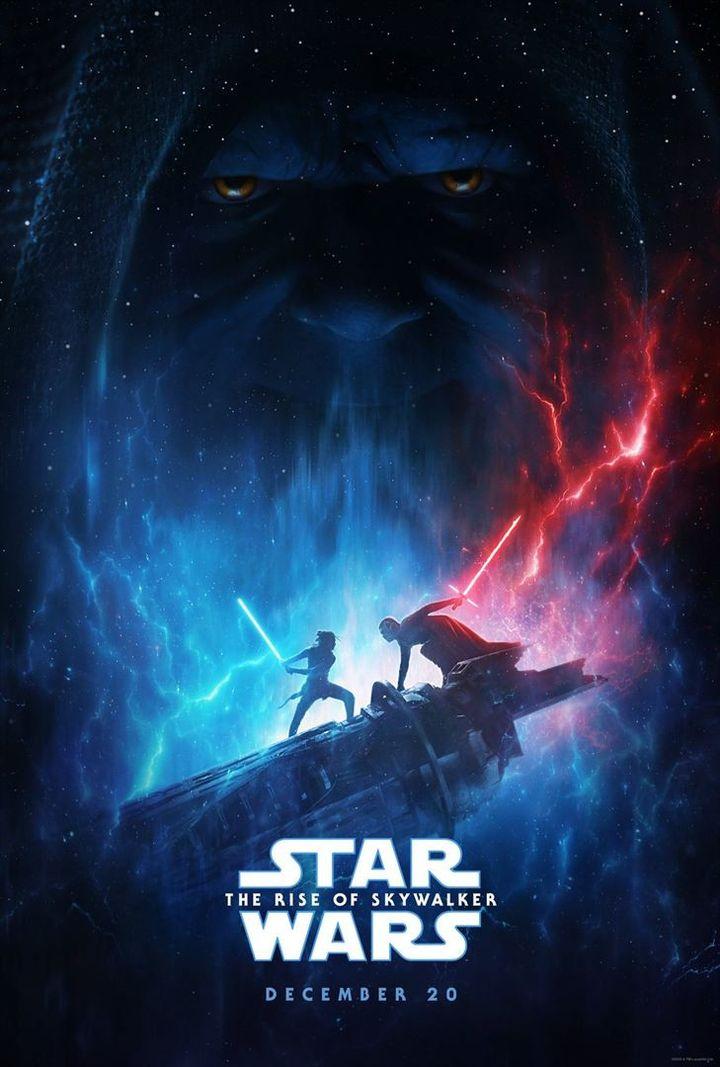 """La première affiche de """"Star Wars Episode IX : L'Ascension de Skywalker"""", dévoilée lors de la conférence de Disney le 26 août 2019. (LUCASFILM / DISNEY)"""