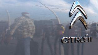Le logo du constructeur Citroën, le 26 octobre 2020. (YASIN AKGUL / AFP)