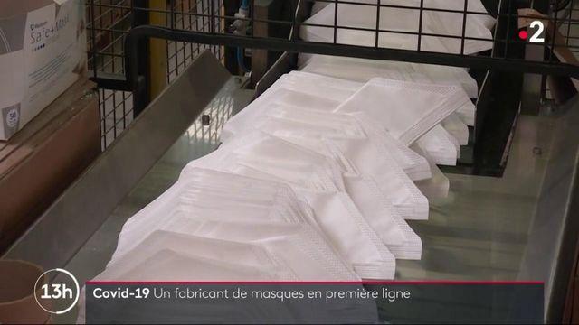Covid-19 : forte activité chez les fabricants de masques français