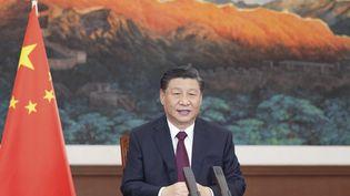 Le président chinois Xi Jinping, le 17 mars 2021. (LI XUEREN / XINHUA / AFP)